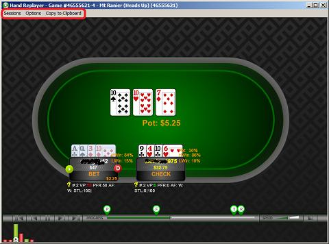 Poker Calculator Replayer